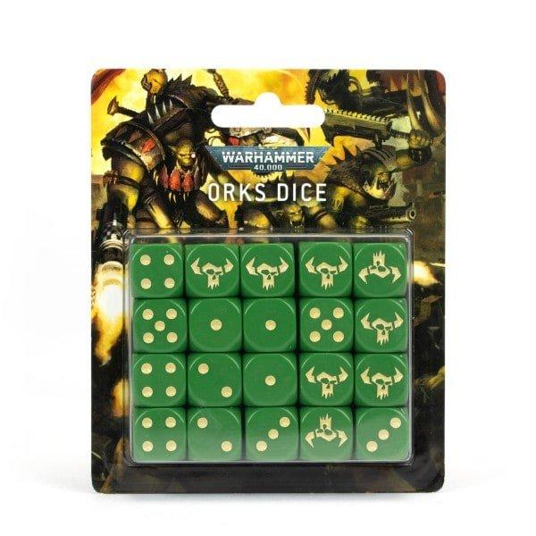 Würfelset der Orks für Warhammer 40.000 - im ONlinehsop von bigpandav.de bestellen
